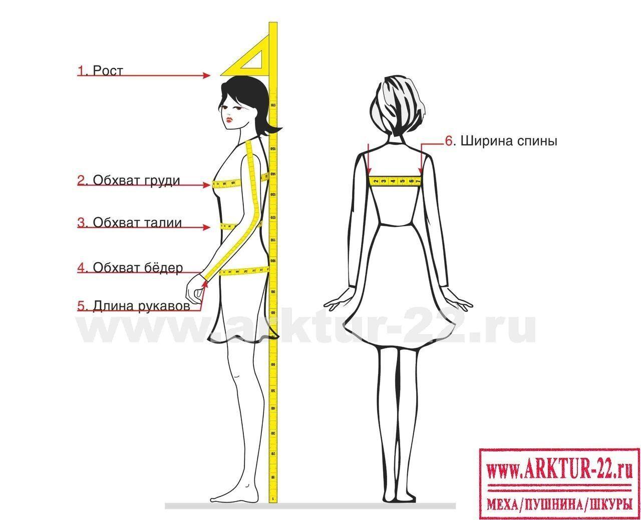Как снимать мерки с женщины для платья