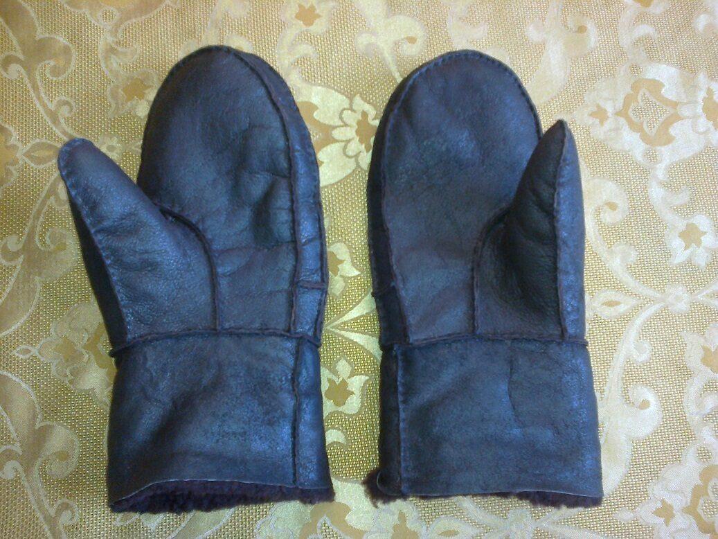 Кожаные варежки своими руками